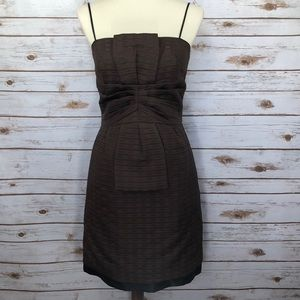 Max & Cleo Brown/Black Adjustable Strap Midi Dress